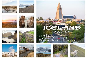 Iceland 219 beautiful images bundle