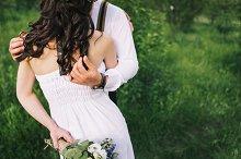 Bare shoulders and tender hands