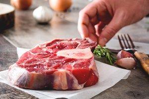 Preparing meat plate