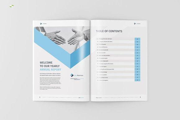 annual report 2018 brochure templates creative market