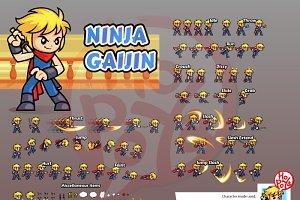 Ninja Gaijin Game Sprites