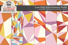 Low Poly Style Patterns Vol01