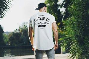 White Blank t-shirt mockup 03