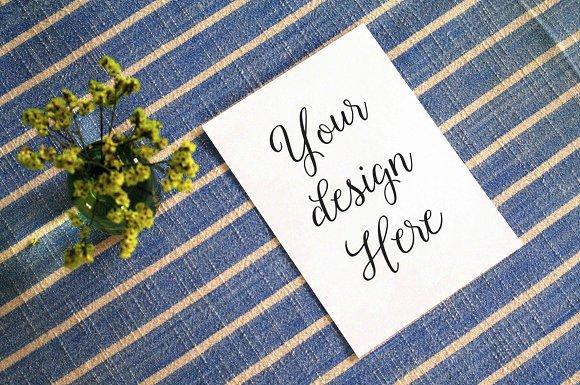 styled a7 invitation mockup invitation templates creative market