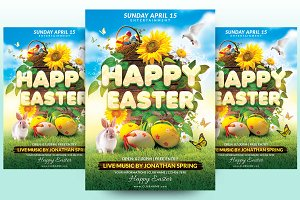 Happy Easter Flyer Template
