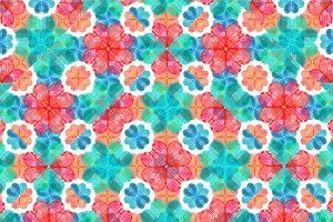 Colourful Geometric Ornate Pattern