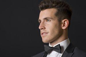Sexy elegant man profile