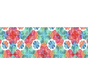 Stationery Background with Colouful Decorated Borders