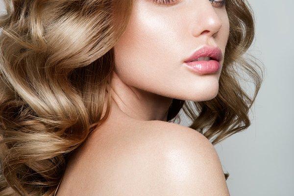 Beauty portrait of model