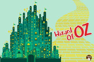 Digital Clipart  Wizard Of Oz