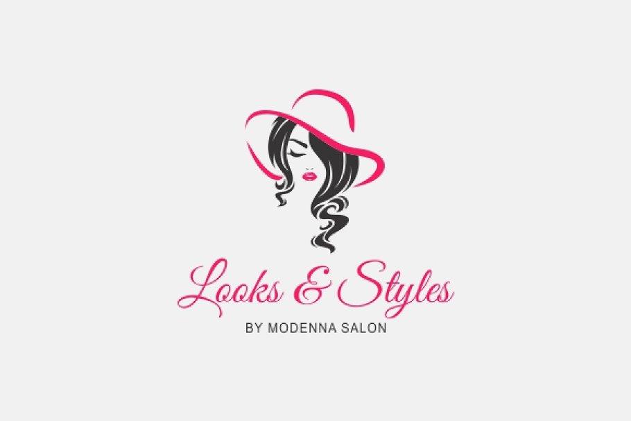 Hair Salon Logo Creative Illustrator Templates Creative Market