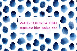 Watercolor dots pattern