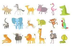 African Animals Illustration Set