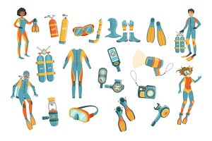Scuba Diving Gear Set