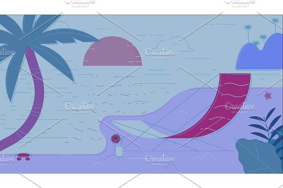 Beach Summer Vector Illustration
