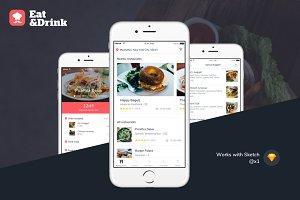 iOS Restaurant Delivery App UI Kit