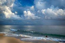 Storm on the Beach. Tarifa. Cadiz