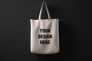 Blank cotton bag mockup 01