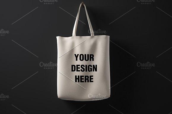 Blank Cotton Bag Mockup 01