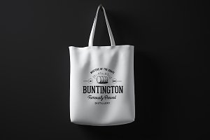 Blank cotton bag mockup 02