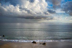 Storm on the Beach. Tarifa Spain