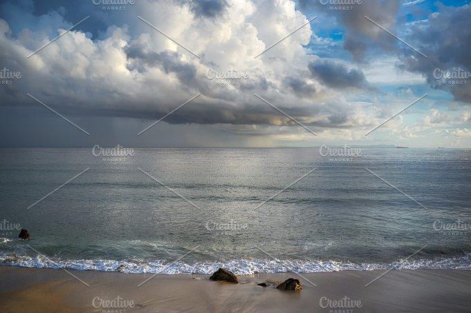 Storm on the Beach. Tarifa Spain - Nature
