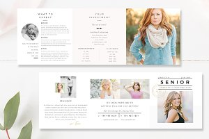 Senior Accordion Trifold Template