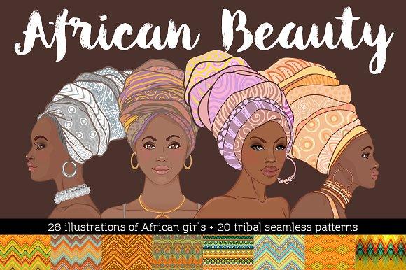 African Beauty Vector Set