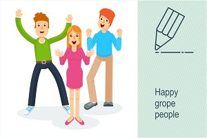 Happy grope people