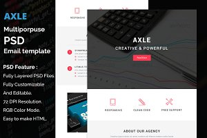 Axle - PSD email template