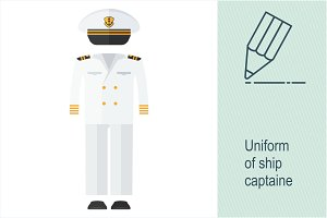Uniform of ship captaine