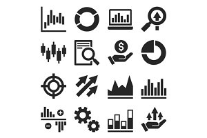 Stock Market Trading Icons