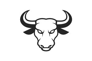 Bull Face Logo. Business Icon Set