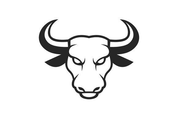 Bull Face Logo Business Icon Set