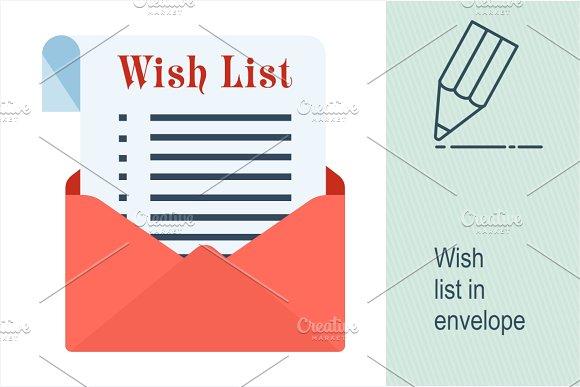 Wish List In Envelope