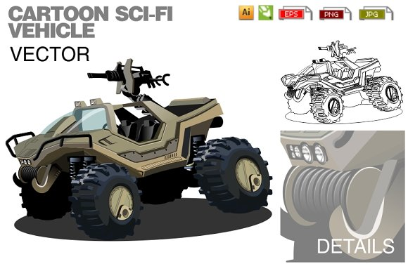 Cartoon Sci-fi Vehicle