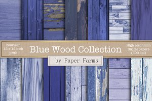 Blue Wood Backgrounds