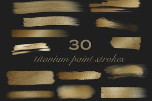 Titanium Brush Strokes