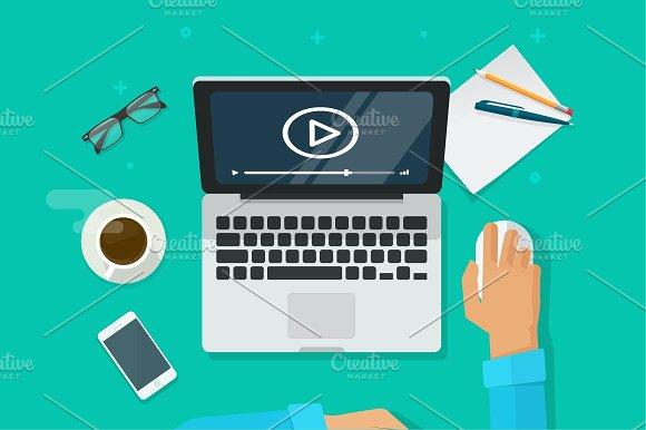Video Webinar On Laptop Computer