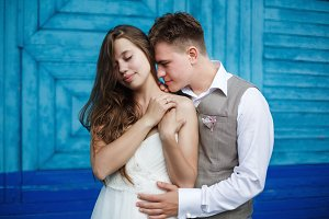 Awesome young wedding couple