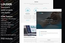 Louder - Responsive email template by  in Other Platforms