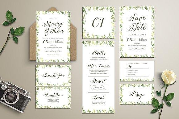 Leaves Wedding Invitation Suite Invitations