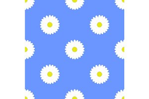 Set flower seamless pattern