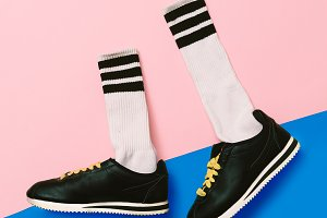 Sneakers and Hipster Socks