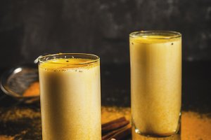 Indian drink turmeric golden milk