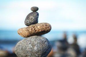 Zen Balancing Stones