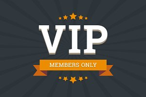 VIP - members only vector background