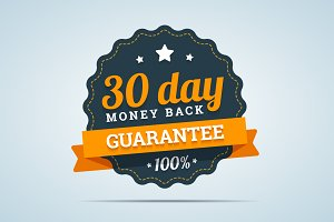 30 day money back badge