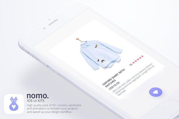 Nomo UI Kit Wireframe Animation