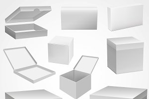 Set of White Boxes Template